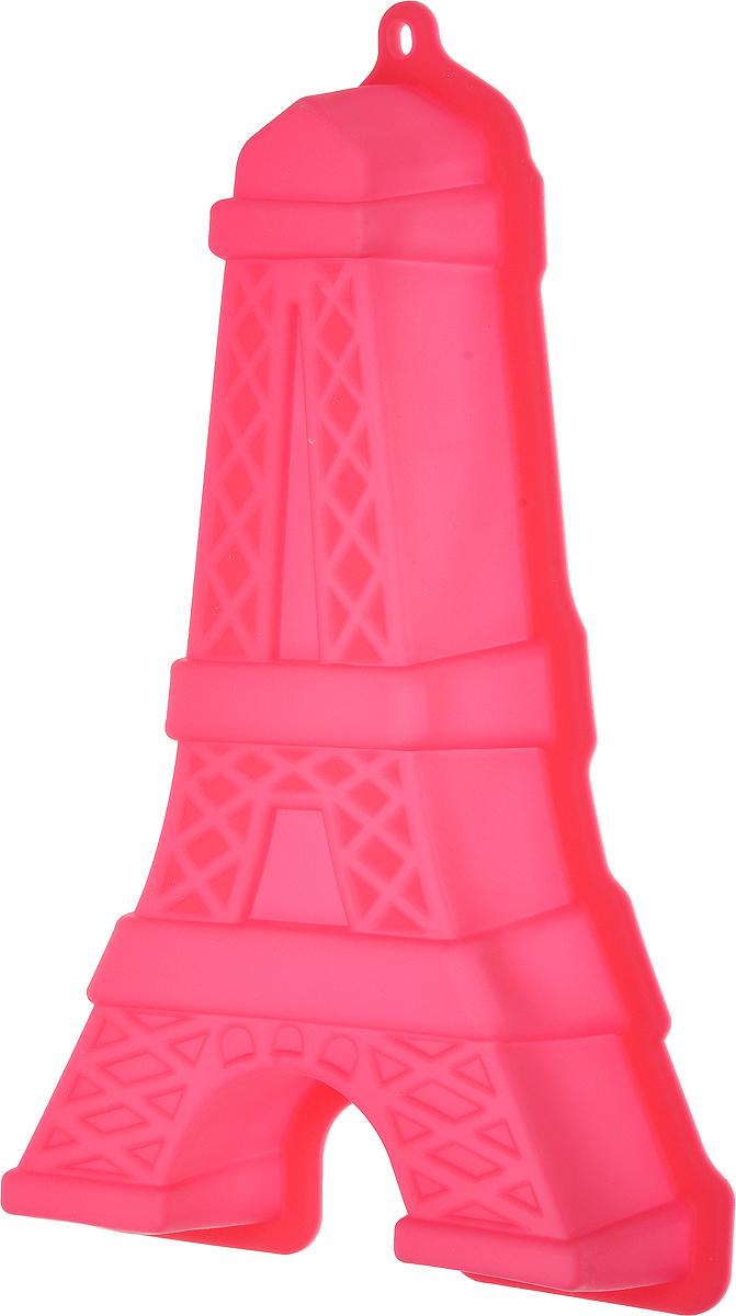 Форма для выпечки Доляна Эйфелева башня, цвет: фуксия, 30 х 18,3 х 5 см1857432_фуксияФорма Доляна Эйфелева башня изготовлена из силикона. Силиконовые формы для выпечки имеют множество преимуществ по сравнению с традиционными металлическими формами и противнями. Нет необходимости смазывать форму маслом. Форма быстро нагревается, равномерно пропекает, не допускает подгорания выпечки с краев или снизу.Вынимать продукты из формы очень легко. Слегка выверните края формы или оттяните в сторону, и ваша выпечка легко выскользнет из формы. Материал устойчив к фруктовым кислотам, не ржавеет, на нем не образуются пятна. Форма может быть использована в духовках и микроволновых печах (выдерживает температуру от -40°С до +230°С), также ее можно помещать в морозильную камеру и холодильник. Можно мыть в посудомоечной машине.