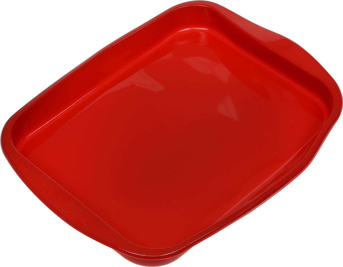 Форма для выпечки Доляна Пирог, силиконовая, цвет: красный, 27 х 18 х 2,5 см1000347_красныйФорма Доляна Пирог изготовлена из силикона. Силиконовые формы для выпечки имеют множество преимуществ по сравнению с традиционными металлическими формами и противнями. Нет необходимости смазывать форму маслом. Форма быстро нагревается, равномерно пропекает, не допускает подгорания выпечки с краев или снизу.Вынимать продукты из формы очень легко. Слегка выверните края формы или оттяните в сторону, и ваша выпечка легко выскользнет из формы. Материал устойчив к фруктовым кислотам, не ржавеет, на нем не образуются пятна. Форма может быть использована в духовках и микроволновых печах (выдерживает температуру от -40°С до +250°С), также ее можно помещать в морозильную камеру и холодильник. Можно мыть в посудомоечной машине.