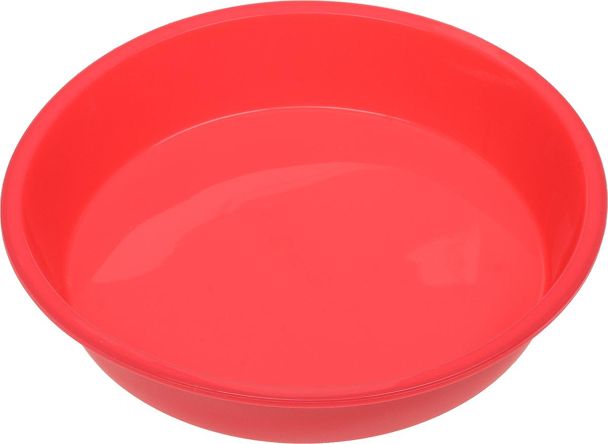 Форма для выпечки Доляна Круг, силиконовая, цвет: розовый, диаметр 22 см1000345_розовыйФорма Доляна Круг изготовлена из силикона. Силиконовые формы для выпечки имеют множество преимуществ по сравнению с традиционными металлическими формами и противнями. Нет необходимости смазывать форму маслом. Форма быстро нагревается, равномерно пропекает, не допускает подгорания выпечки с краев или снизу.Вынимать продукты из формы очень легко. Слегка выверните края формы или оттяните в сторону, и ваша выпечка легко выскользнет из формы. Материал устойчив к фруктовым кислотам, не ржавеет, на нем не образуются пятна. Форма может быть использована в духовках и микроволновых печах (выдерживает температуру от -40°С до +250°С), также ее можно помещать в морозильную камеру и холодильник. Можно мыть в посудомоечной машине.Диаметр формы (по верхнему краю): 22 см.Высота стенки формы: 3 см.
