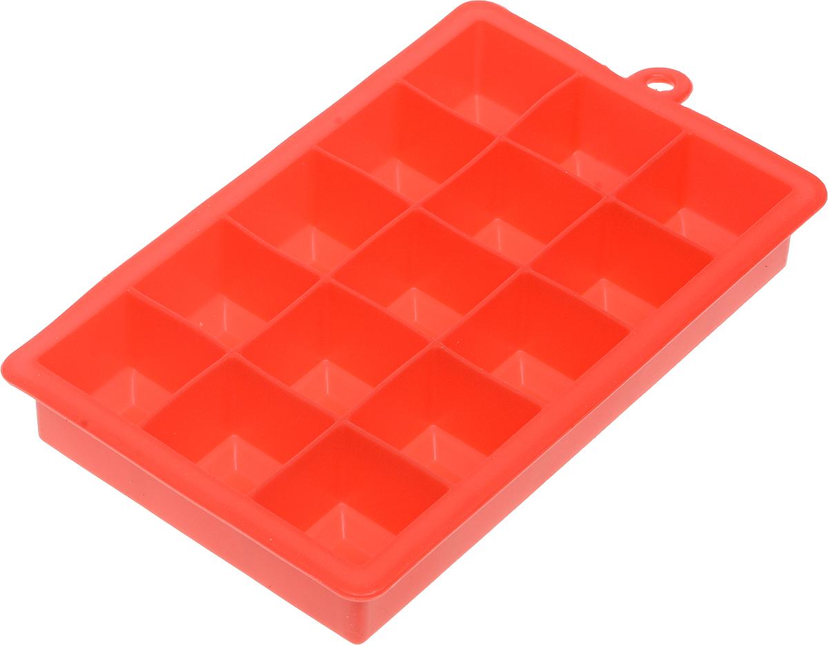 Форма для льда и шоколада Доляна Кубик, цвет: красный, 15 ячеек, 11,7 х 18,7 х 3,4 см1847979_красныйКвадратная форма для льда и шоколада Доляна Кубик имеет 15 ячеек и выполнена из пищевого силикона, который не впитывает запахов, отличается прочностью и долговечностью. Материал полностью безопасен для продуктов питания. Кроме того, силикон выдерживает температуру от -40°С до +250°С. Благодаря гибкости материала готовый продукт легко вынимается и не крошатся. Лед получается идеальной формы. С силиконовыми формами для льда легко фантазировать и придумывать новые рецепты. В формах можно заморозить сок или приготовить мини порции мороженого, желе, шоколада или другого десерта. Особенно эффектно выглядят льдинки с замороженными внутри ягодами или дольками фруктов. Заморозив настой из трав, можно использовать его в косметологических целях.Форма легко отмывается, в том числе в посудомоечной машине. Можно использовать в духовом шкафу и морозильной камере.Общий размер формы: 11,7 х 18,7 х 3,4 см.Размер ячейки: 3 х 3 х 3,4 см.