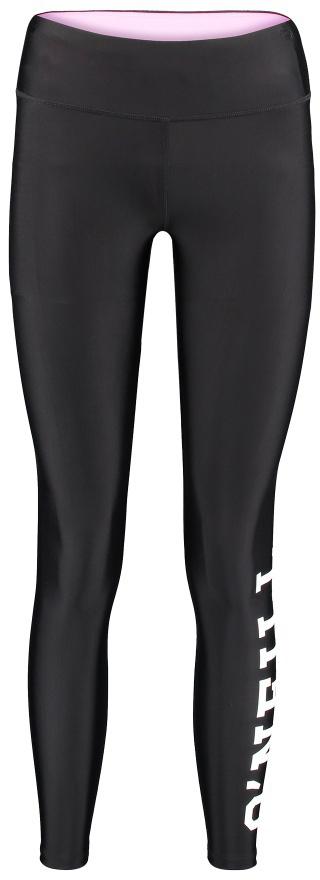 Леггинсы женские ONeill Pw Basic Print Legging, цвет: черный. 7P8642-9010. Размер S (44/46)7P8642-9010Женские леггинсы от ONeill выполнены из полиамида с добавлением эластана. Модель облегающего кроя на талии дополнена широкой эластичной резинкой.