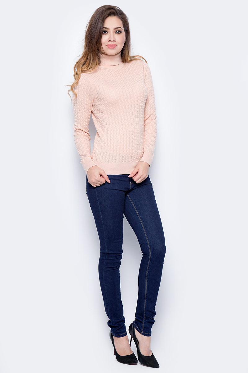 Джемпер женский Sela, цвет: розовая пыль. JR-114/2035-7442. Размер L (48)JR-114/2035-7442Модный женский джемпер Sela, изготовленный из высококачественного материала, мягкий и приятный на ощупь, не сковывает движений и обеспечивает наибольший комфорт. Модель с воротником-хомутом и длинными рукавами оформлен оригинальной вязкой. Этот джемпер послужит отличным дополнением к вашему гардеробу.