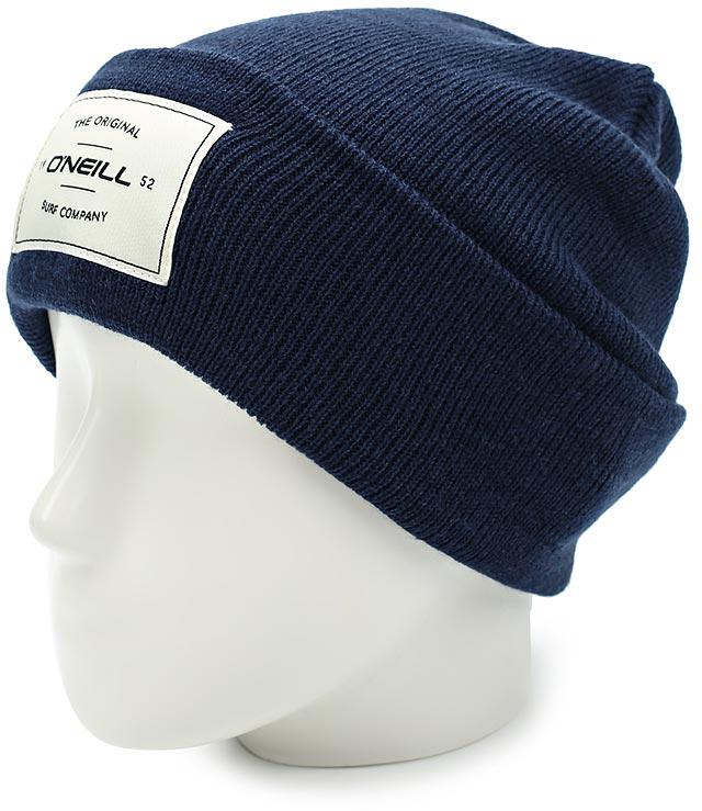 Шапка мужская ONeill Bm Tmepiece Beanie, цвет: темно-синий. 7P4114-5056. Размер универсальный7P4114-5056Мужская шапка от ONeill с отворотом выполнена из натуральной акриловой пряжи. Шапка на отвороте декорирована нашивкой.