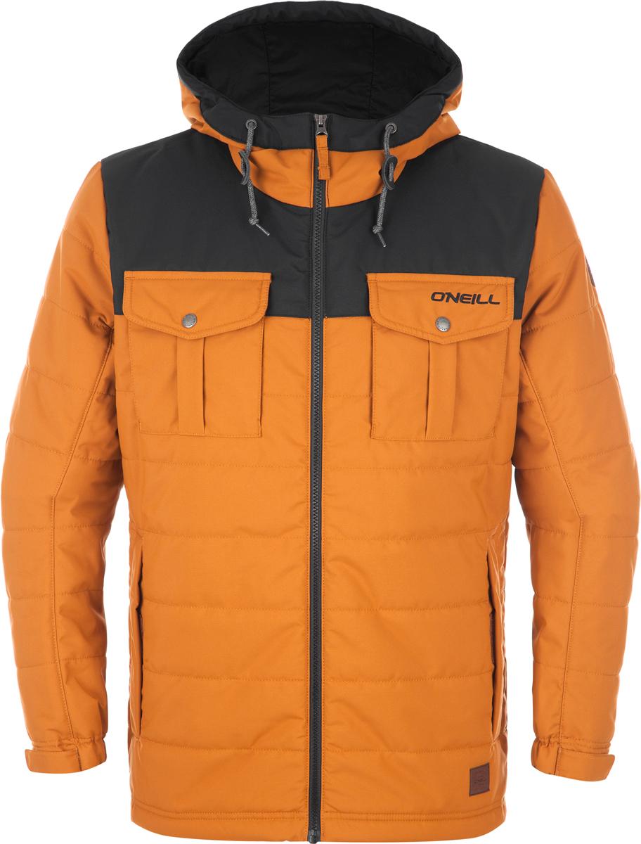 Куртка мужская ONeill Lm Charged Up Jacket, цвет: коричневый, черный. 7P3614-3079. Размер L (50/52)7P3614-3079Мужская куртка от ONeill с утеплителем выполнена из высококачественного плотного материала. Модель с длинными рукавами и втачным капюшоном застегивается на молнию. Куртка по бокам дополнена втачными карманами, на груди - накладными карманами с клапанами. Рукава по низу имеют регулируемые хлястики на липучках.