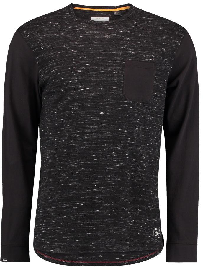 Лонгслив мужской ONeill Jacks Special Ls Top, цвет: черный. 7P2100-9900. Размер M (48/50)7P2100-9900Мужской лонгслив от ONeill выполнен из хлопкового трикотажа. Модель с длинными рукавами и круглым вырезом горловины.