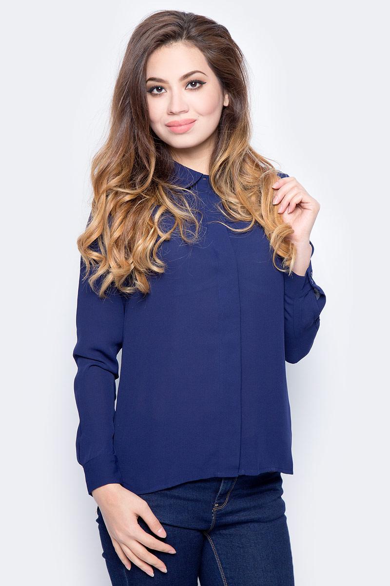 Блузка женская Sela, цвет: фиолетово-синий. B-112/1322-7321. Размер 48