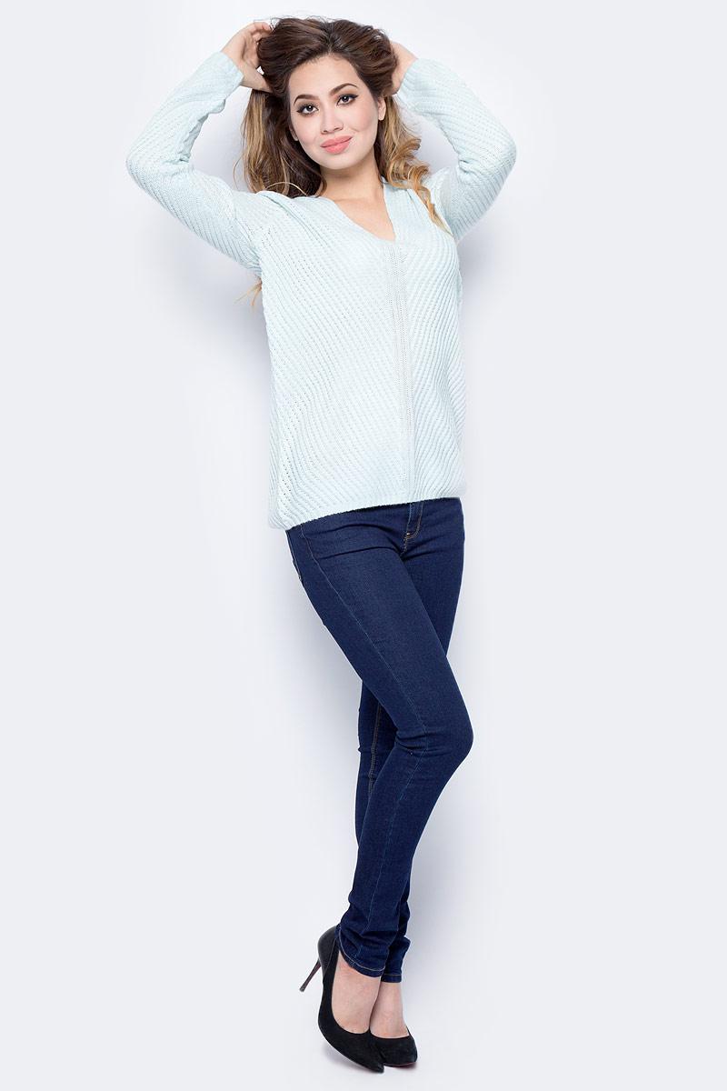 Джемпер женский Sela, цвет: снежный ментол. JR-114/1231-7452. Размер XS (42)JR-114/1231-7452Модный женский джемпер Sela, изготовленный из высококачественного материала, мягкий и приятный на ощупь, не сковывает движений и обеспечивает наибольший комфорт. Модель с V-образным вырезом горловины и длинными рукавами оформлена оригинальной вязкой. Этот джемпер послужит отличным дополнением к вашему гардеробу.