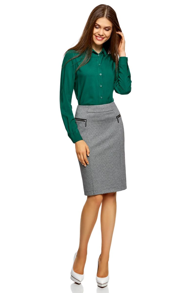 Юбка oodji Collection, цвет: белый, черный. 24100026-2/46979/1029O. Размер L (48)24100026-2/46979/1029OТрикотажная юбка-карандаш от oodji с молниями по бокам. В заднем шве застежка на молнию. Декоративные молнии по бокам придают модели оригинальный и стильный вид. Покрой юбки выигрышно подчеркивает силуэт, а продольные швы зрительно стройнят фигуру. Плотная трикотажная ткань с добавлением вискозы комфортна и практична. Юбка не мнется, хорошо держит форму и неприхотлива в уходе. Трикотажная юбка идеально подходит для повседневного ношения. Она будет уместна в офисе или на деловой встрече, на свидании или на прогулке. Ее можно носить со строгими блузками или рубашками, пиджаками и жакетами. Юбка-карандаш отлично сочетается с объемными вязаными джемперами, неформальными свитшотами с принтом или тонкими водолазками. Обувь на каблуке визуально удлинит ноги. С этой удобной и стильной трикотажной юбкой вы сможете создать множество оригинальных образов на все случаи жизни.