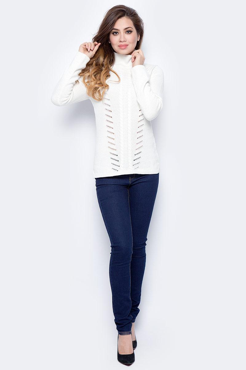 Джемпер женский Sela, цвет: молочный. JR-314/2028-7422. Размер S (44)JR-314/2028-7422