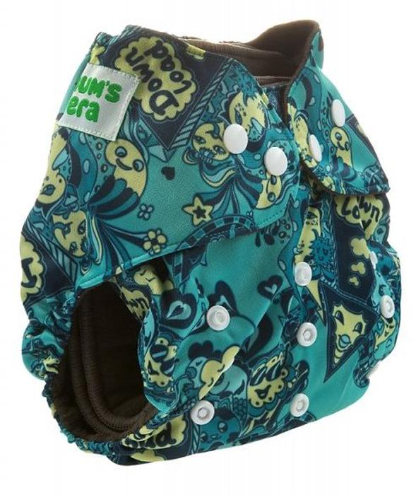 Фото - Mum's Era Многоразовый угольный подгузник Медузы + 2 вкладыша mum s era многоразовый подгузник якоря 3 13 кг один вкладыш