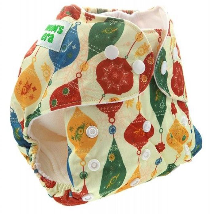 Фото - Mum's Era Многоразовый подгузник Гирлянда цвет желтый 2 вкладыша mum s era многоразовый подгузник якоря 3 13 кг один вкладыш