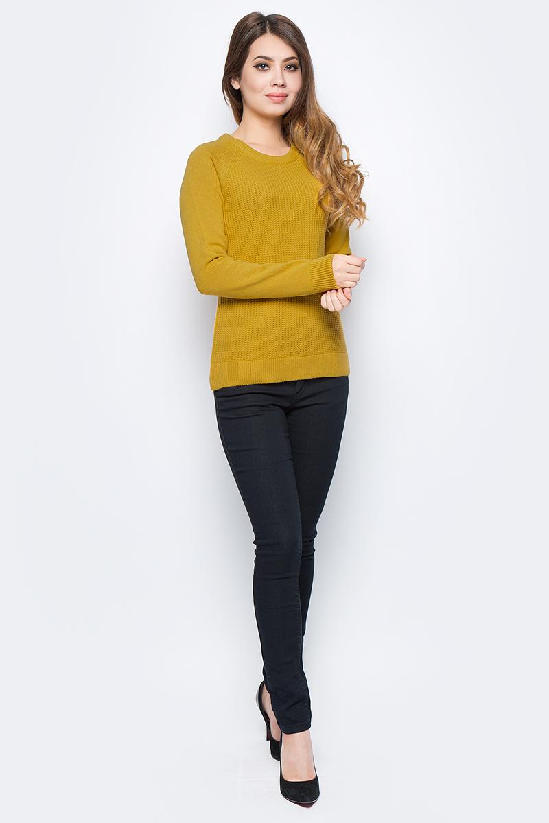 Джемпер женский Sela, цвет: жженный желтый меланж. JR-314/2025-7422. Размер XS (42)JR-314/2025-7422Модный женский джемпер Sela, изготовленный из высококачественного материала, мягкий и приятный на ощупь, не сковывает движений и обеспечивает наибольший комфорт. Модель с круглым вырезом горловины и длинными рукавами оформлена оригинальной вязкой. Этот джемпер послужит отличным дополнением к вашему гардеробу.