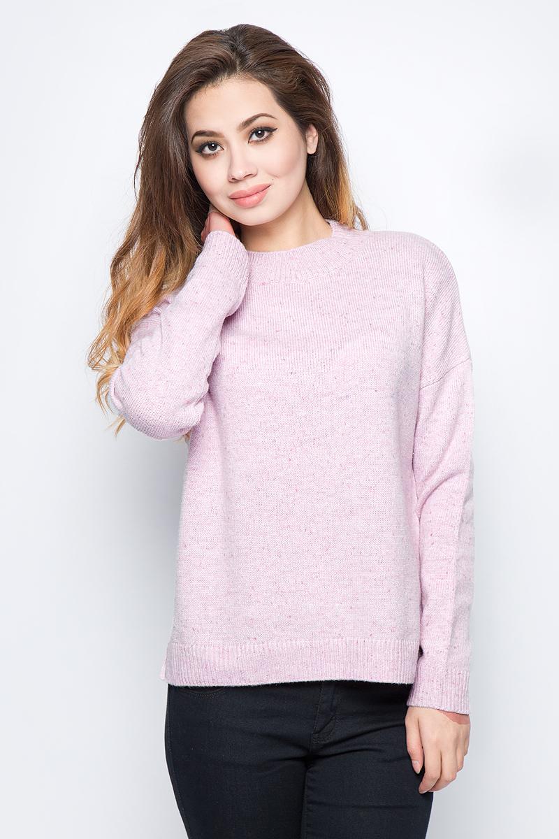Фото Джемпер женский Sela, цвет: нежный розовый. JR-114/1230-7452. Размер S (44)