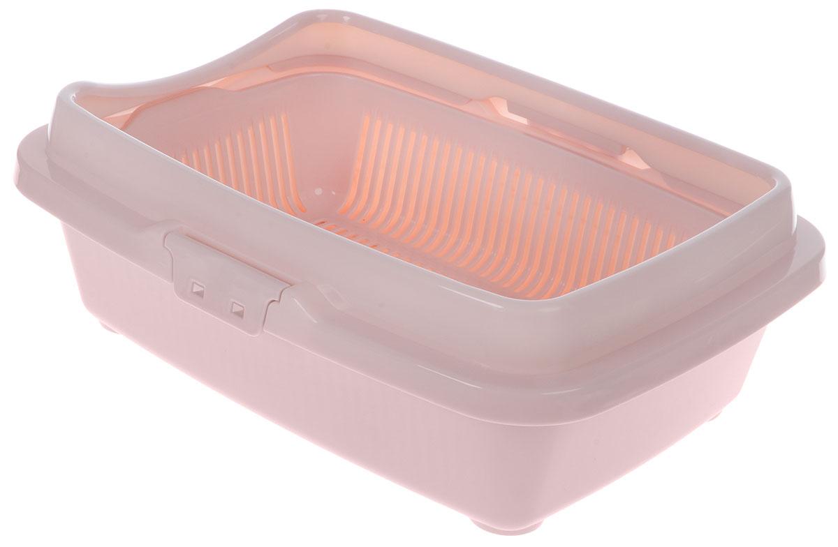 Туалет для котят DD Style Догуш, с бортом и сеткой, цвет: пепельно-розовый, 26,5 х 36,5 х 12,5 смТуалет Догуш для котят полн.комплектация пепл.-роз.(уп.20) арт.232Туалет для котят DD Style Догуш изготовлен из качественного прочного пластика. Высокийборт, прикрепленный по периметру лотка, удобно защелкивается и предотвращаетразбрасывание наполнителя. Благодаря внутренней сетке, туалет можно использовать как снаполнителем, так и без него. Это самый простой в употреблении предмет обихода длякотят.Туалет легко моется водой.