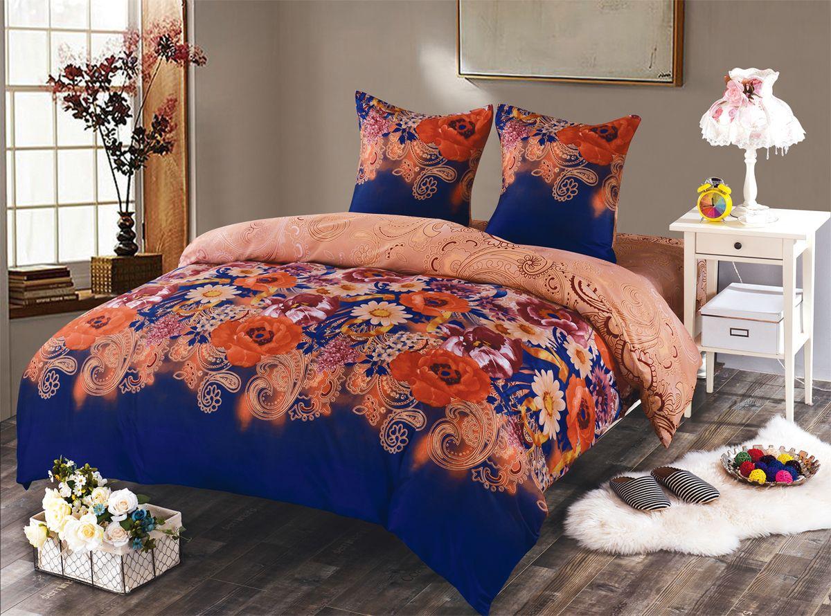 Комплект белья Amore Mio Gabrielle, 2-спальный, наволочки 70x70, цвет: синий, красный84648Amore Mio – Комфорт и Уют - Каждый день! Amore Mio предлагает оценить соотношению цены и качества коллекции. Разнообразие ярких и современных дизайнов прослужат не один год и всегда будут радовать Вас и Ваших близких сочностью красок и красивым рисунком. Мако-сатина - Свежее решение, для уюта на даче или дома, созданное с любовью для вашего комфорта и отличного настроения! Нано-инновации позволили открыть новую ткань, полученную, в результате высокотехнологического процесса, сочетает в себе широкий спектр отличных потребительских характеристик и невысокой стоимости. Легкая, плотная, мягкая ткань, приятна и практична с эффектом «персиковой кожуры». Отлично стирается, гладится, быстро сохнет. Дисперсное крашение, великолепно передает качество рисунков, и необычайно устойчива к истиранию. ПрСоветы по выбору постельного белья от блогера Ирины Соковых. Статья OZON Гид