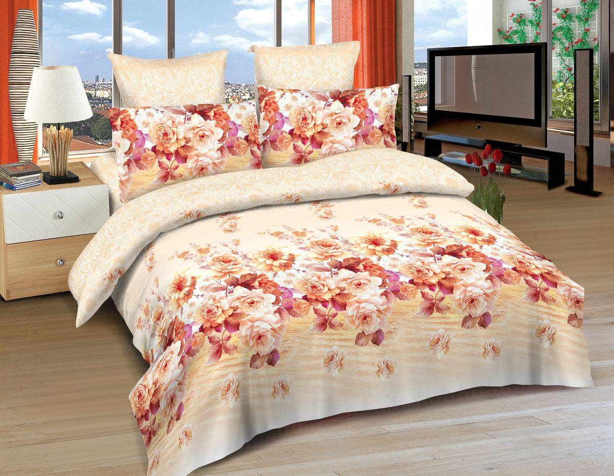 Комплект белья Amore Mio Tolosa , 2-спальный, наволочки 70x70, цвет: оранжевый, розовый, белый86493Постельное белье Amore Mio из сатина - оригинальные дизайны и отменное качество. Ткань изготовлена из 100% хлопка, плотная и легкая, яркие рисунки, отменное качество пошива.