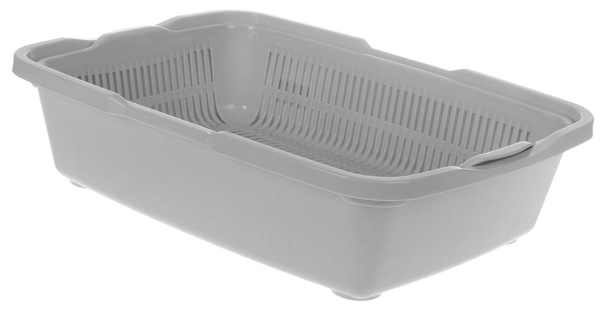 Туалет для кошек DD Style Догуш, с сеткой, цвет: светло-серый, 36 х 49,5 х 12,5 смТуалет для кошек бол. с сеткой светло-серый(уп.20) арт.236Туалет для кошек DD Style Догуш изготовлен из высококачественного цветного пластика со съемной сеткой. Туалет с сеткой может использоваться как с наполнителем, так и без него. Это самый экономичный и простой в употреблении предмет обихода для кошек и котов.Туалет легко моется водой.