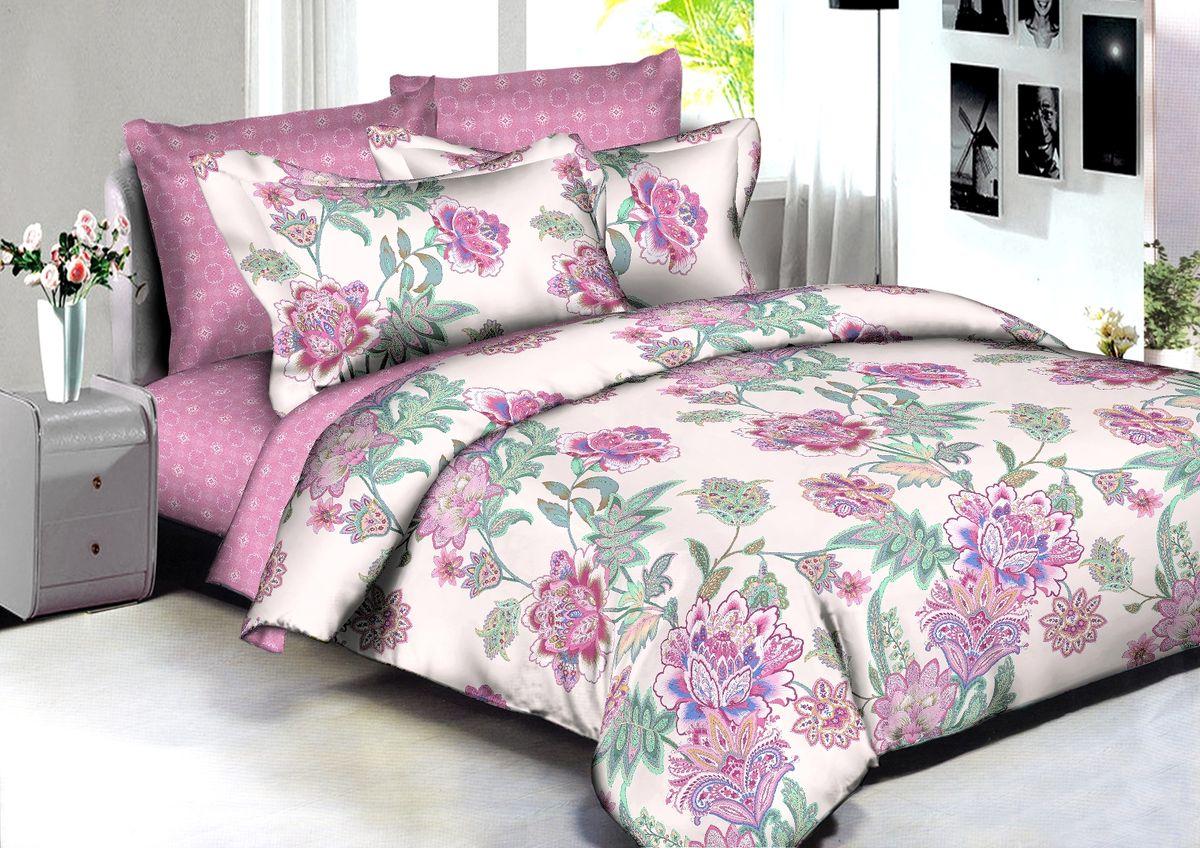 Комплект белья Buenas Noches Adelaide, 2-спальный, наволочки 70x70, 50x70, цвет: розовый, белый, зеленый86577В постельном белье Buenas noches используется сатин премиального качества, плотный, шелковистый, с широким списком исключительных свойств. Яркий насыщенный цвет обеспечен высоким качеством печати устойчивыми гипоаллергенными активными красителями. Аккуратный и качественный пошив на нашем высокотехнологичном производстве. Кнопки на пододеяльнике - наше ноу-хау - обеспечит комфорт и практичность. Богатый выбор классических и современных дизайнов. ригинальный дизайн наволочек не только удобен для сна, но и украшает постель. Наше постельное белье сохраняет первоначальный внешний вид долгие годы.Яркий насыщенный цвет обеспечен высоким качеством печати устойчивыми гипоаллергенными активными красителями. Аккуратный и качественный пошив на нашем высокотехнологичном производстве.Увеличенные размеры простынейКнопки на пододеяльнике - наше ноу-хау - обеспечит комфорт и практичность. Оригинальный дизайн наволочек не только удобен для сна, но и украшает постель. Наше постельное белье сохраняет п