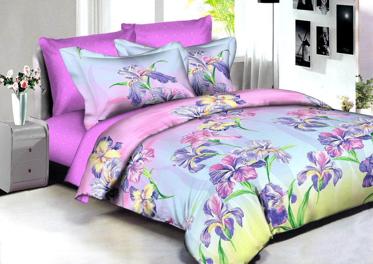Комплект белья Buenas Noches Manila, 2-спальный, наволочки 70x70, 50x70, цвет: розовый, сиреневый86583В постельном белье Buenas noches используется сатин премиального качества, плотный, шелковистый, с широким списком исключительных свойств. Яркий насыщенный цвет обеспечен высоким качеством печати устойчивыми гипоаллергенными активными красителями. Аккуратный и качественный пошив на нашем высокотехнологичном производстве. Кнопки на пододеяльнике - наше ноу-хау - обеспечит комфорт и практичность. Богатый выбор классических и современных дизайнов. ригинальный дизайн наволочек не только удобен для сна, но и украшает постель. Наше постельное белье сохраняет первоначальный внешний вид долгие годы.Яркий насыщенный цвет обеспечен высоким качеством печати устойчивыми гипоаллергенными активными красителями. Аккуратный и качественный пошив на нашем высокотехнологичном производстве.Увеличенные размеры простынейКнопки на пододеяльнике - наше ноу-хау - обеспечит комфорт и практичность. Оригинальный дизайн наволочек не только удобен для сна, но и украшает постель. Наше постельное белье сохраняет п