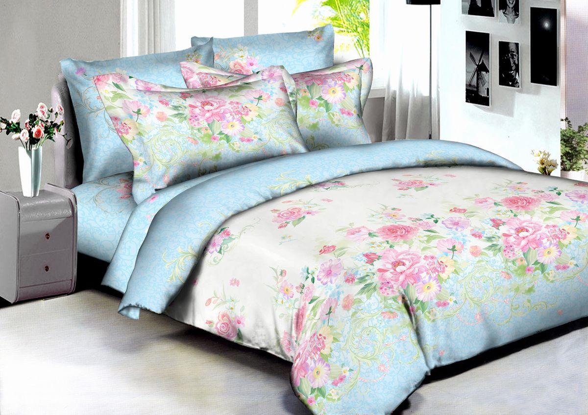 Комплект белья Buenas Noches Madrid, 2-спальный, наволочки 70x70, 50x70, цвет: голубой, розовый86594В постельном белье Buenas noches используется сатин премиального качества, плотный, шелковистый, с широким списком исключительных свойств. Яркий насыщенный цвет обеспечен высоким качеством печати устойчивыми гипоаллергенными активными красителями. Аккуратный и качественный пошив на нашем высокотехнологичном производстве. Кнопки на пододеяльнике - наше ноу-хау - обеспечит комфорт и практичность. Богатый выбор классических и современных дизайнов. ригинальный дизайн наволочек не только удобен для сна, но и украшает постель. Наше постельное белье сохраняет первоначальный внешний вид долгие годы.Яркий насыщенный цвет обеспечен высоким качеством печати устойчивыми гипоаллергенными активными красителями. Аккуратный и качественный пошив на нашем высокотехнологичном производстве.Увеличенные размеры простынейКнопки на пододеяльнике - наше ноу-хау - обеспечит комфорт и практичность. Оригинальный дизайн наволочек не только удобен для сна, но и украшает постель. Наше постельное белье сохраняет п