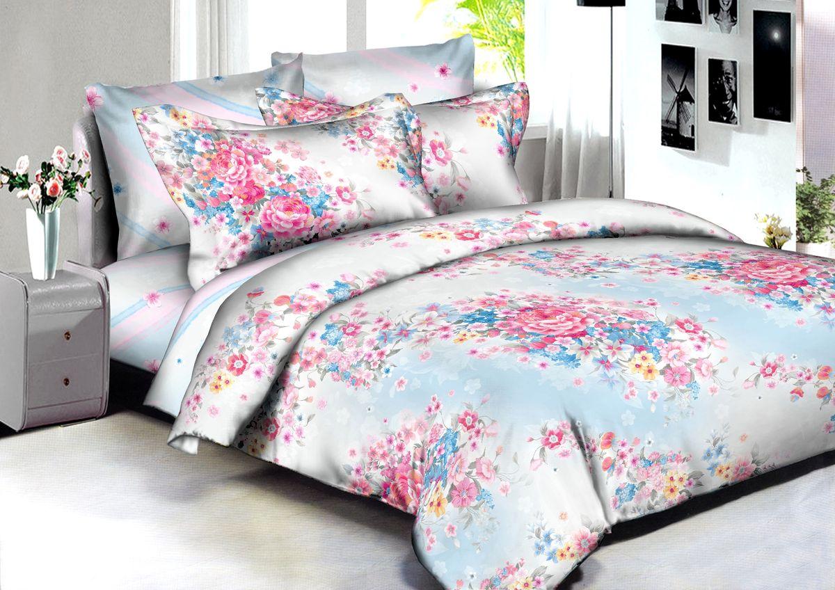 Комплект белья Buenas Noches Venice, евро, наволочки 70x70, 50x70, цвет: белый, розовый, голубой86617В постельном белье Buenas noches используется сатин премиального качества, плотный, шелковистый, с широким списком исключительных свойств. Яркий насыщенный цвет обеспечен высоким качеством печати устойчивыми гипоаллергенными активными красителями. Аккуратный и качественный пошив на нашем высокотехнологичном производстве. Кнопки на пододеяльнике - наше ноу-хау - обеспечит комфорт и практичность. Богатый выбор классических и современных дизайнов. ригинальный дизайн наволочек не только удобен для сна, но и украшает постель. Наше постельное белье сохраняет первоначальный внешний вид долгие годы. Яркий насыщенный цвет обеспечен высоким качеством печати устойчивыми гипоаллергенными активными красителями. Аккуратный и качественный пошив на нашем высокотехнологичном производстве.Увеличенные размеры простыней Кнопки на пододеяльнике - наше ноу-хау - обеспечит комфорт и практичность. Оригинальный дизайн наволочек не только удобен для сна, но и украшает постель. Наше постельное белье сохраняет пСоветы по выбору постельного белья от блогера Ирины Соковых. Статья OZON Гид