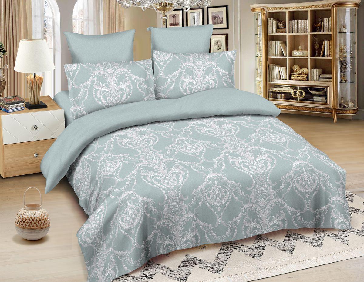 Комплект белья Amore Mio Casablanca, 1,5-спальный, наволочки 70x70, цвет: серый, розовый