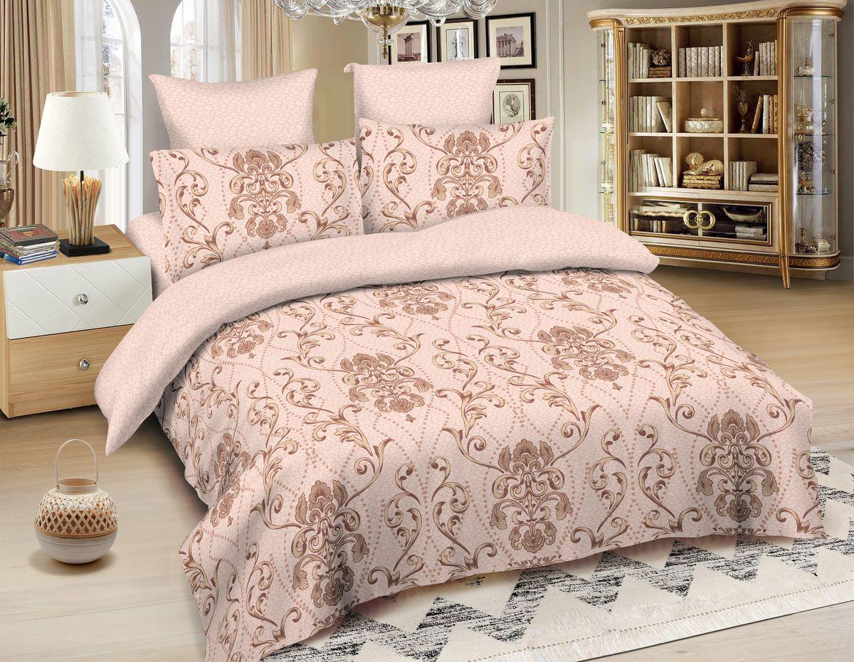 Комплект белья Amore Mio Giza, 2-спальный, наволочки 70x70, цвет: молочный, бежевый