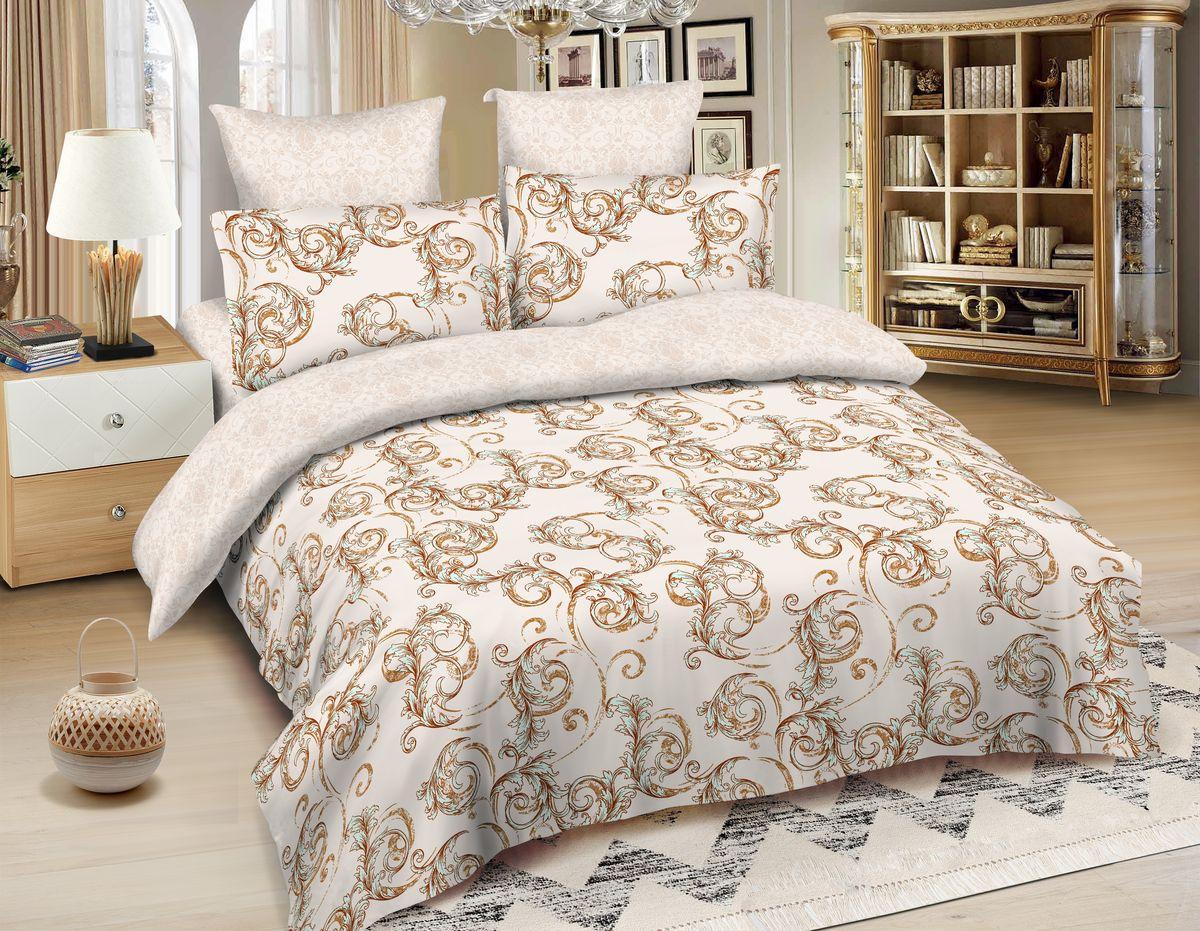 Комплект белья Amore Mio Warsaw, 2-спальный, наволочки 70x70, цвет: молочный, бежевый