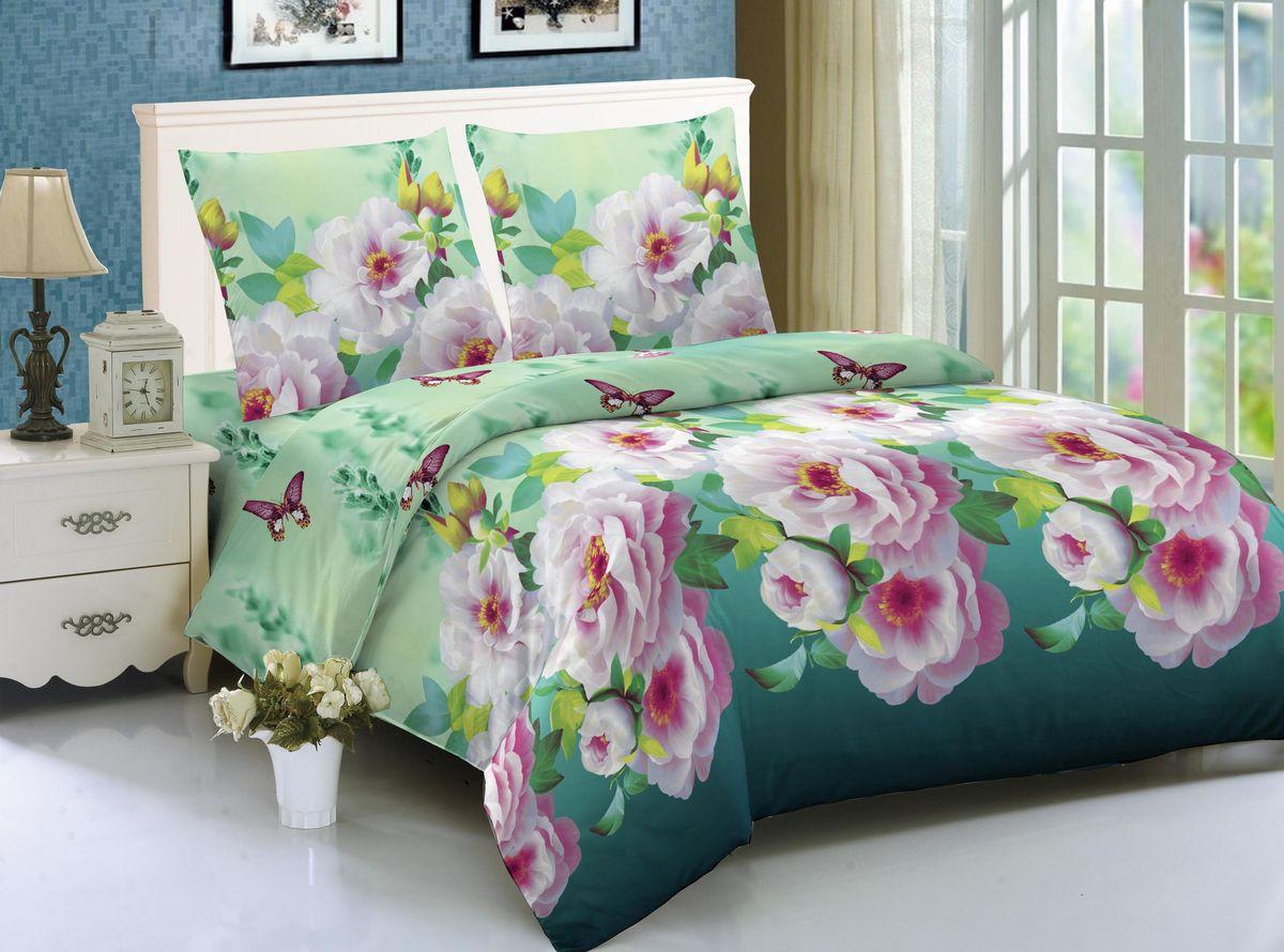 """Комплект постельного белья """"Amore Mio"""" состоит из пододеяльника, простыни  и двух наволочек. Легкая, плотная, мягкая ткань, приятна и практична. Отлично  стирается, гладится, быстро сохнет. Дисперсное крашение, великолепно    передает качество рисунков, и  необычайно устойчива к истиранию."""