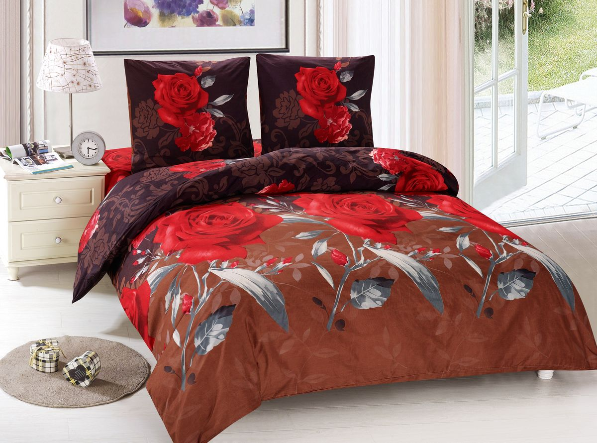 Комплект белья Amore Mio Vanda, 1,5-спальный, наволочки 70x70, цвет: красный, коричневый88438Amore Mio – Комфорт и Уют - Каждый день! Amore Mio предлагает оценить соотношение цены и качества коллекции. Разнообразие ярких и современных дизайнов прослужат не один год и всегда будут радовать Вас и Ваших близких сочностью красок и красивым рисунком. Мако-сатин - свежее решение, для уюта на даче или дома, созданное с любовью для вашего комфорта и отличного настроения! Нано-инновации позволили открыть новую ткань, полученную, в результате высокотехнологического процесса, сочетает в себе широкий спектр отличных потребительских характеристик и невысокой стоимости. Легкая, плотная, мягкая ткань, приятна и практична с эффектом «персиковой кожуры». Отлично стирается, гладится, быстро сохнет. Дисперсное крашение, великолепно передает качество рисунков.Советы по выбору постельного белья от блогера Ирины Соковых. Статья OZON Гид