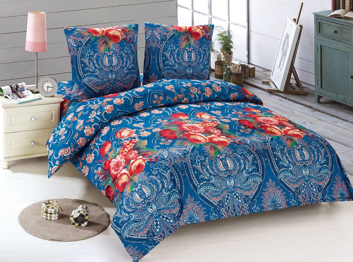 Комплект белья Amore Mio Vesta, 1,5-спальный, наволочки 70x70, цвет: синий, красный88446Комплект постельного белья Amore Mio выполнен из 100% полиэстера. Комплект состоит из пододеяльника, простыни и двух наволочек. Постельное белье оформлено оригинальным рисунком и имеет изысканный внешний вид.Советы по выбору постельного белья от блогера Ирины Соковых. Статья OZON Гид