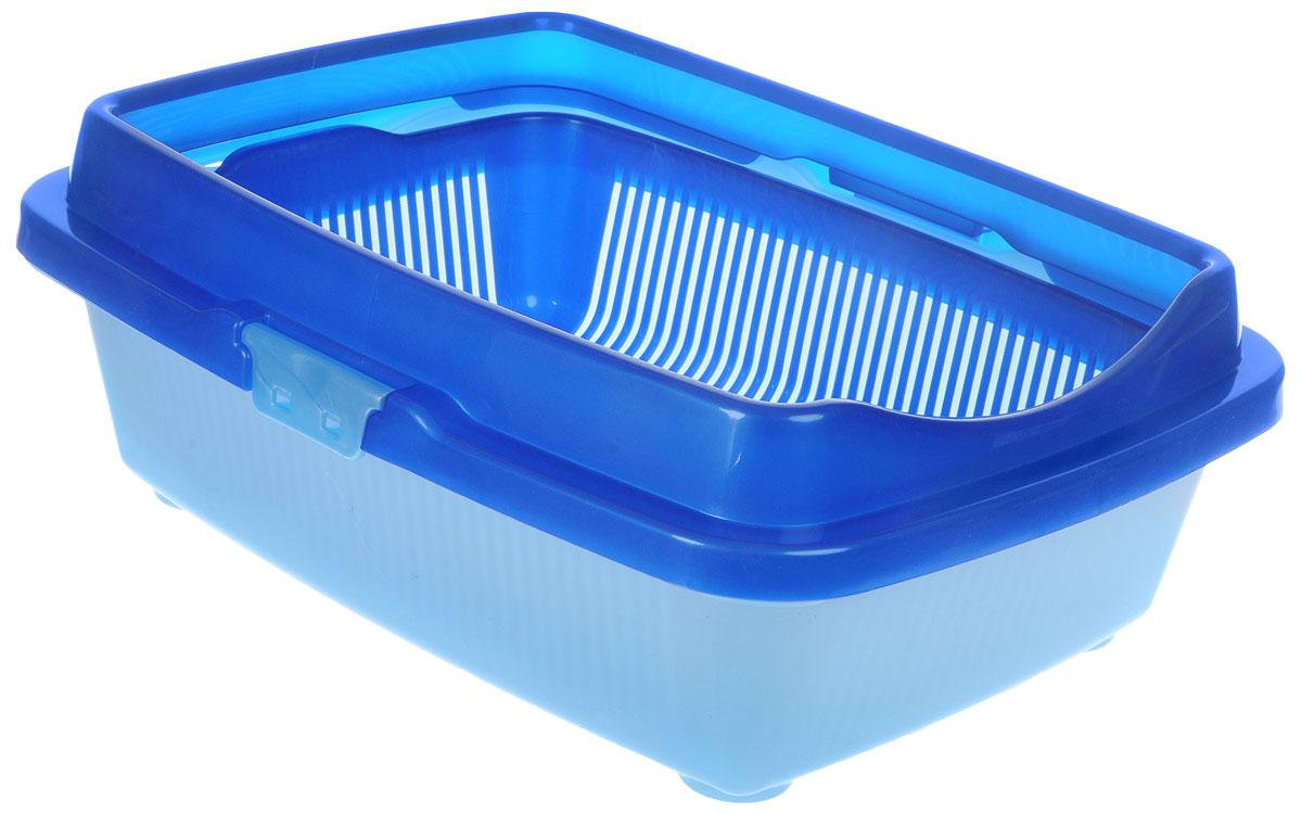 Туалет для кошек DD Style Догуш, с бортом, цвет: синий, голубой, 32,5 х 43 х 15,5 смТуалет Догуш для кошек полн.комплектация сине-гол.(уп.18) арт.235Туалет для кошек DD Style Догуш изготовлен из качественного прочного пластика. Высокий борт, прикрепленный по периметру лотка, удобно защелкивается и предотвращает разбрасывание наполнителя. Это самый простой в употреблении предмет обихода для кошек и котов.