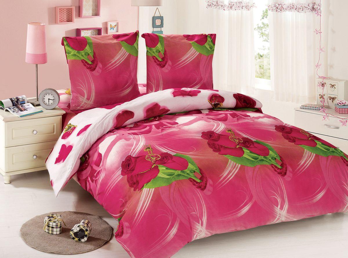 Комплект белья Amore Mio Vera, 2-спальный, наволочки 70x70, цвет: розовый, белый, зеленый88478Amore Mio – Комфорт и Уют - Каждый день! Amore Mio предлагает оценить соотношение цены и качества коллекции. Разнообразие ярких и современных дизайнов прослужат не один год и всегда будут радовать Вас и Ваших близких сочностью красок и красивым рисунком. Мако-сатин - свежее решение, для уюта на даче или дома, созданное с любовью для вашего комфорта и отличного настроения! Нано-инновации позволили открыть новую ткань, полученную, в результате высокотехнологического процесса, сочетает в себе широкий спектр отличных потребительских характеристик и невысокой стоимости. Легкая, плотная, мягкая ткань, приятна и практична с эффектом «персиковой кожуры». Отлично стирается, гладится, быстро сохнет. Дисперсное крашение, великолепно передает качество рисунков.