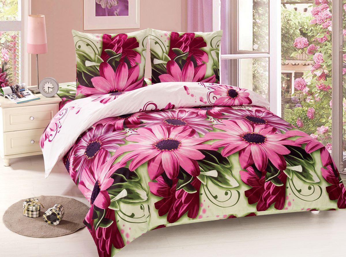 Комплект белья Amore Mio Stella, 2-спальный, наволочки 70x70, цвет: розовый, зеленый88485Amore Mio – Комфорт и Уют - Каждый день! Amore Mio предлагает оценить соотношение цены и качества коллекции. Разнообразие ярких и современных дизайнов прослужат не один год и всегда будут радовать Вас и Ваших близких сочностью красок и красивым рисунком. Мако-сатин - свежее решение, для уюта на даче или дома, созданное с любовью для вашего комфорта и отличного настроения! Нано-инновации позволили открыть новую ткань, полученную, в результате высокотехнологического процесса, сочетает в себе широкий спектр отличных потребительских характеристик и невысокой стоимости. Легкая, плотная, мягкая ткань, приятна и практична с эффектом «персиковой кожуры». Отлично стирается, гладится, быстро сохнет. Дисперсное крашение, великолепно передает качество рисунков.Советы по выбору постельного белья от блогера Ирины Соковых. Статья OZON Гид