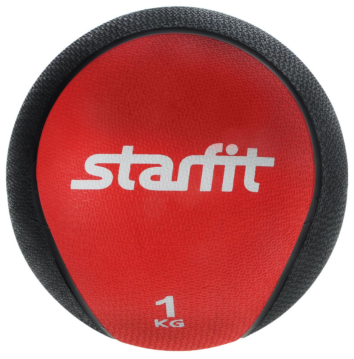 Медицинбол Starfit Pro GB-702, цвет: красный, черный, 1 кг купить паяльную станцию lukey 702 в украине