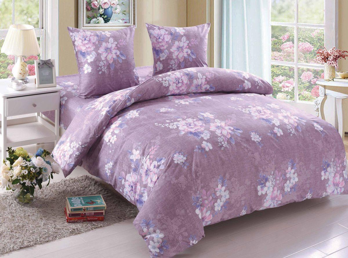 Комплект белья Amore Mio Amelia, 2-спальный, наволочки 70x70, цвет: сиреневый, серый, белый, розовый89384Постельное белье Amore Mio из поплина - оригинальные дизайны и отменное качество. Ткань - плотная и легкая, яркие рисунки, отменное качество пошива.