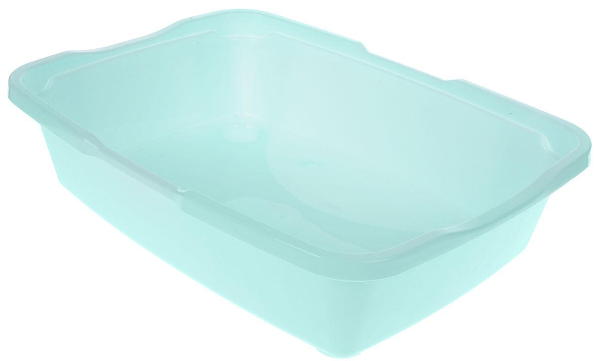 Туалет для кошек DD Style Догуш, с бортом, цвет: ментоловый, 36 х 49,5 х 16,7 смТуалет для кошек бол. с бортом ментол.(уп.20) арт.237Туалет для кошек DD Style Догуш изготовлен из качественного прочного пластика. Высокий борт, прикрепленный по периметру лотка, удобно защелкивается и предотвращает разбрасывание наполнителя. Это самый простой в употреблении предмет обихода для кошек и котов.