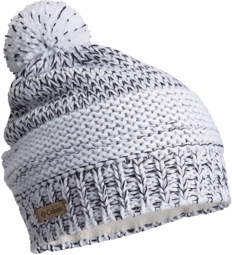 Шапка женская Columbia Brook Mountain Beanie Hat, цвет: белый. 1742201-100. Размер универсальный1742201-100Вязаная шапка Brook Mountain от Columbia выполнена из акрила и имеет подкладку из мягкого флиса. Модель дополнена помпоном на макушке и украшена небольшим металлическим лейблом с логотипом бренда.