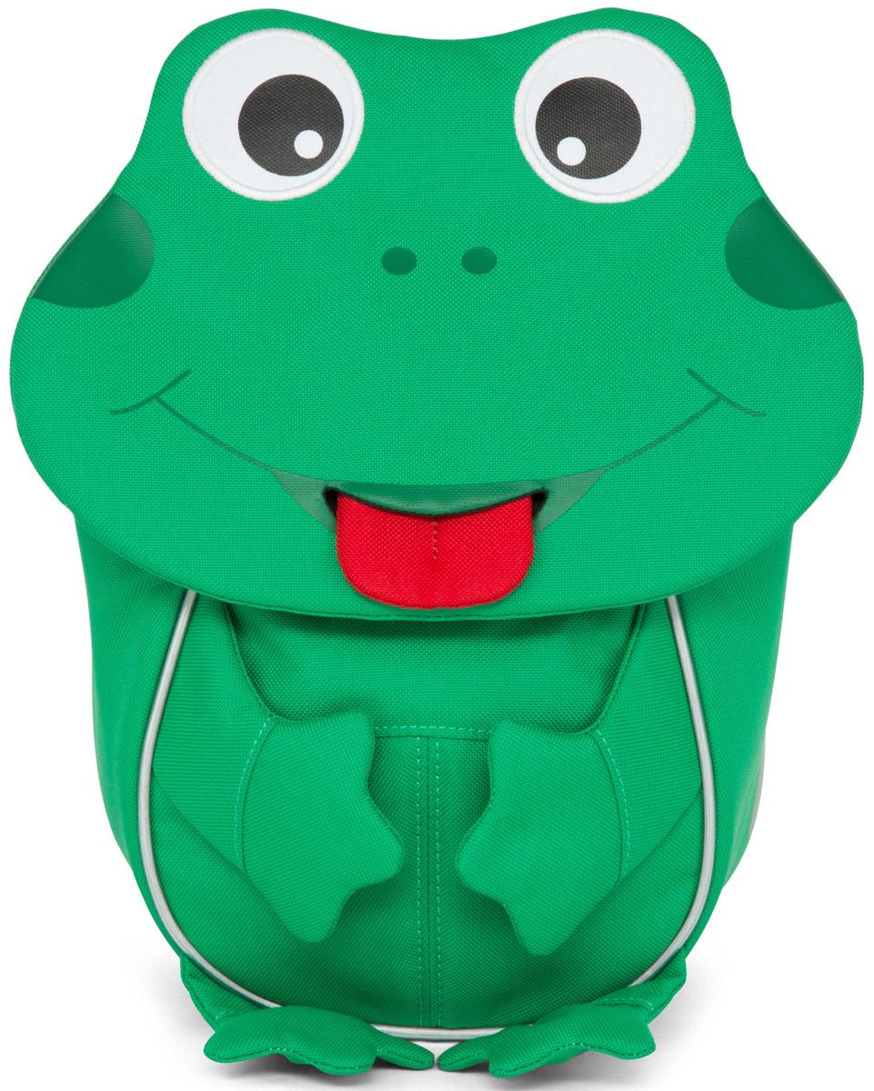 Affenzahn Рюкзак детский Finn FrogAFZ-FAS-001-014Рюкзак, выполненный из прочного и дышащего (спинка) материала, предназначен для детей раннего возраста.Предусмотрена возможность регулировки лямочной системы, в частности, нагрудного ремня по высоте.Включает в себя вместительное внутреннее отделение с растягивающимся карманом.На ярлыке в виде высовывающегося языка можно написать имя ребёнка.Изделие оснащено ручкой для переноски.Светоотражающие элементы на внешней стороне рюкзака повышают безопасность на улице.