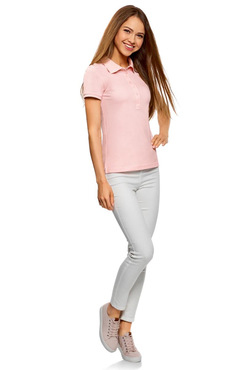 Поло женское oodji Ultra, цвет: светло-розовый, 2 шт. 19301001T2/46161/4000N. Размер XS (42)19301001T2/46161/4000NЖенское поло от oodji выполнено из ткани пике. Модель с короткими рукавами и отложным воротником на груди застегивается на пуговицы. В комплект входят две футболки-поло.