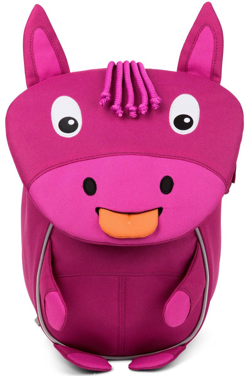 Affenzahn Рюкзак детский Hanne HorseAFZ-FAS-001-021Рюкзак, выполненный из прочного влагоустойчивого и дышащего (спинка) материала, предназначен для детей раннего возраста.Предусмотрена возможность регулировки лямочной системы, в частности, нагрудного ремня по высоте.Включает в себя вместительное внутреннее отделение с растягивающимся карманом.На ярлыке в виде высовывающегося языка можно написать имя ребёнка.Изделие оснащено ручкой для переноски.Светоотражающие элементы на внешней стороне рюкзака повышают безопасность на улице.