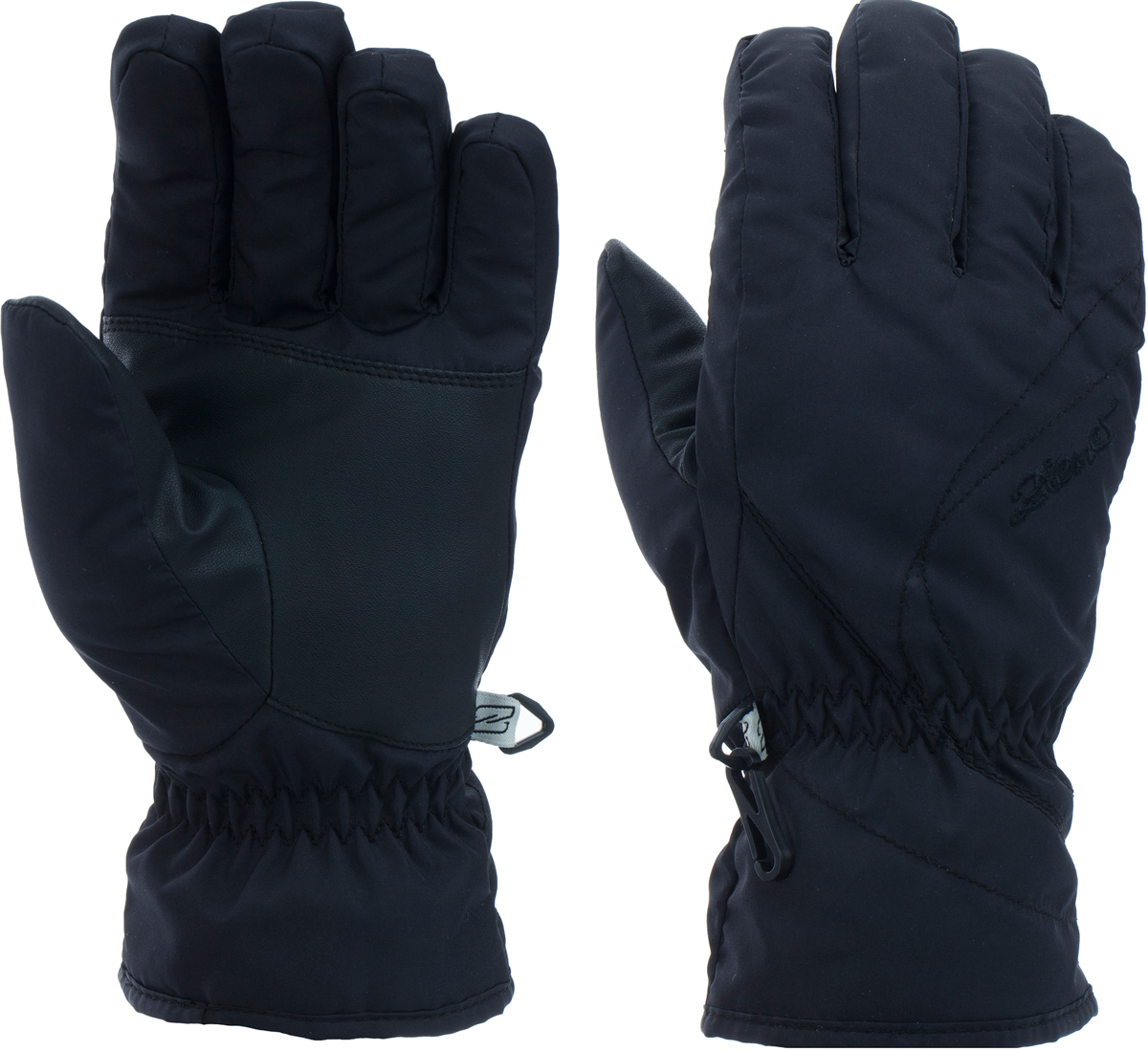 Перчатки женские Ziener Kata Lady, цвет: черный. 150062-12. Размер 7,5150062-12Горнолыжные перчатки классической формы. Стандартный крой, эргономичная манжета, средней толщины утеплитель, в совокупности, обеспечивают комфортные условия в использовании изделия. Технология обеспечивает максимальный комфорт и свободу движения.