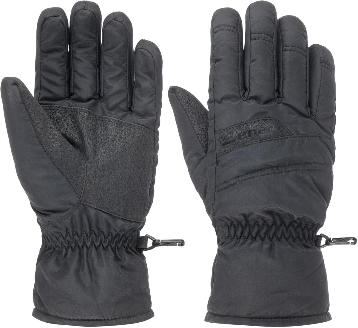 Перчатки мужские Ziener Gramosso Sm Glove Ski Alpine, цвет: черный. 150045-12. Размер 10,5150045-12Технологичные мужские перчатки для горнолыжного спорта. Стандартный крой, эргономичные манжеты и утеплитель средней толщины обеспечивают комфорт и естественность движений. Технология обеспечивает максимальный комфорт и свободу движения. Резинка на манжетах позволяет плотно фиксировать перчатку, исключая попадание влаги внутрь. По бокам предусмотрены специальные карабины, с помощью которых можно прикрепить перчатки к одежде.