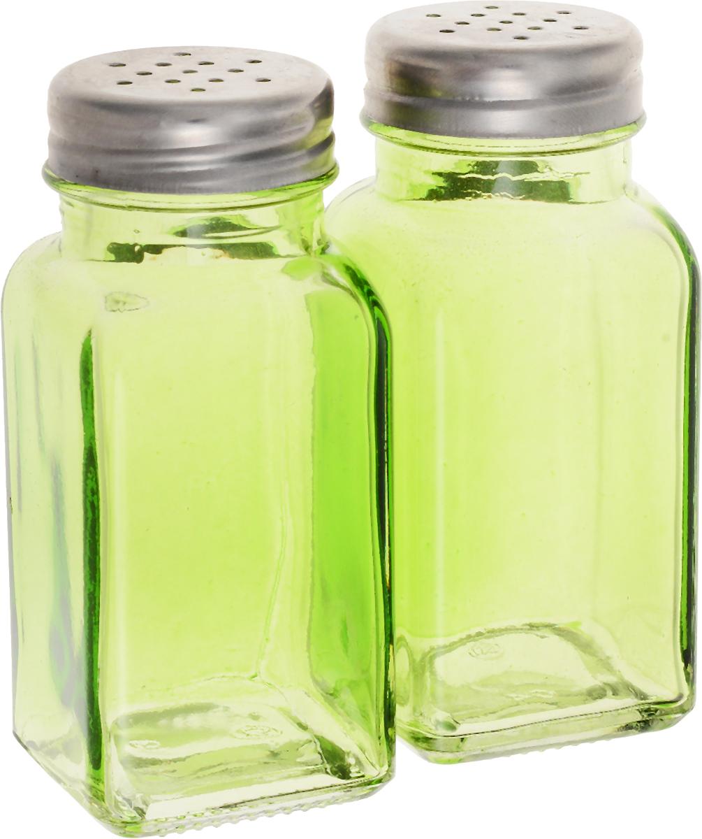 Набор для специй Доляна Галерея, цвет: зеленый, 2 шт952710_зеленыйНабор для специй Доляна Галерея изготовлен из высококачественной нержавеющей стали и цветного стекла. Оригинальные баночки для специй сохранят свежесть и вкус ваших специй.Размер баночек: 9 х 4 х 4 см.Диаметр горлышка: 2,5 см.Диаметр отверстия: 2 мм.