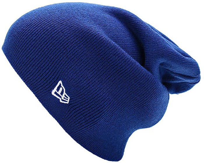 Шапка New Era Basic Long Knit, цвет: синий. 11448381-BLU. Размер универсальный11448381-BLUВязаная удлиненная шапка New Era выполнена из 100% акрила. Модель оформлена вышивкой с изображением логотипа бренда. Такая шапка подойдет и для мужчин, и для женщин.