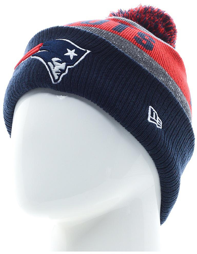 Шапка New Era Newenglandpatriots, цвет: синий, красный. 11448361-OTC. Размер универсальный11448361-OTCТёплая и модная шапка с логотипом команды NFL New England Patriots. Флисовая подкладка с вложением натуральной шерсти обеспечивает тепло. Отворот увеличенной ширины из рифлёной ткани для отличной посадки.