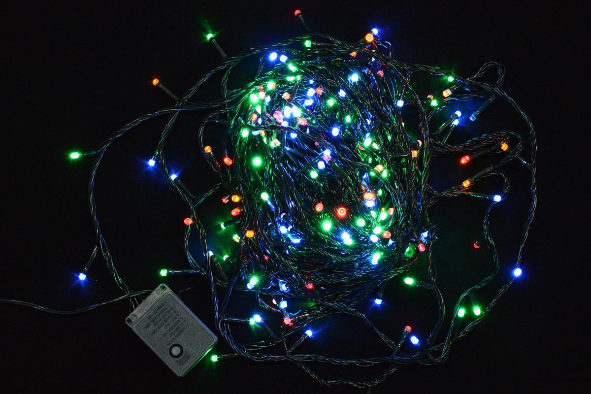 Гирлянда электрическая Vegas Нить, с контроллером, свет: холодный, 300 ламп, длина 23 м. 55072 vegas душевая дверь vegas ep 70 профиль матовый хром стекло зебра