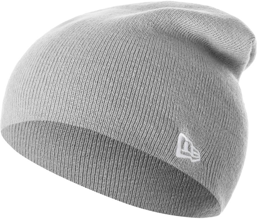 Шапка New Era Basic Long Knit, цвет: серый. 11277761-GRA. Размер универсальный11277761-GRAВязаная удлиненная шапка New Era Basic Long Knit выполнена из 100% акрила. Модель украшена вышивкой с изображением логотипа бренда. Такая шапка подойдет и для мужчин, и для женщин.