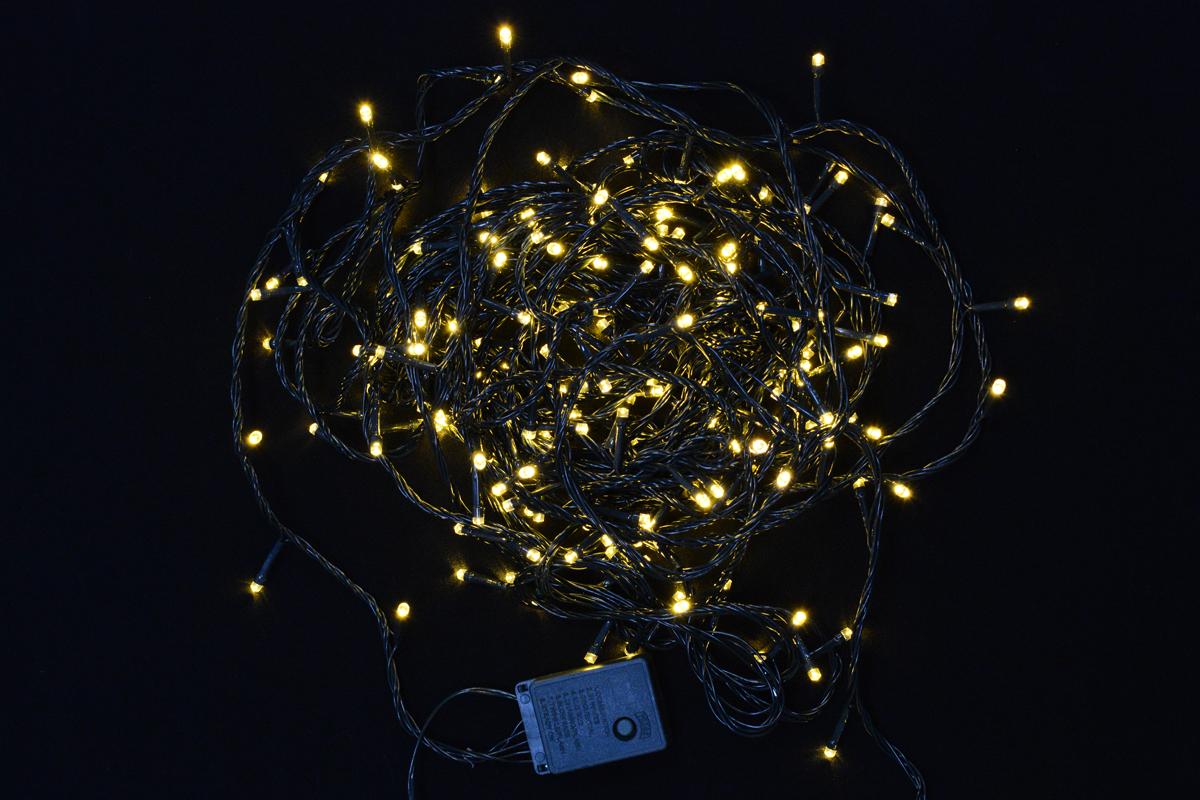 Гирлянда электрическая Vegas Нить, с контроллером, свет: теплый, 300 ламп, длина 23 м. 5507155071Новогодняя электрическая гирлянда Vegas Нить предназначена для украшения интерьеров. Изделие состоит из 300 ламп. Гирлянда содержит заменяемые лампы повышенного срока службы. Если одна лампа выходит из строя, остальные будут гореть. С помощью контроллера вы сможете регулировать режим мигания гирлянды.Оригинальный дизайн и красочное исполнение создадут праздничное настроение. Откройте для себя удивительный мир сказок и грез. Почувствуйте волшебные минуты ожидания праздника, создайте новогоднее настроение вашим дорогим и близким.Напряжение: 220 V.Цвет кабеля: зеленый.Общая длина: 23 м.Количество ламп: 300.Количество режимов мигания: 8.