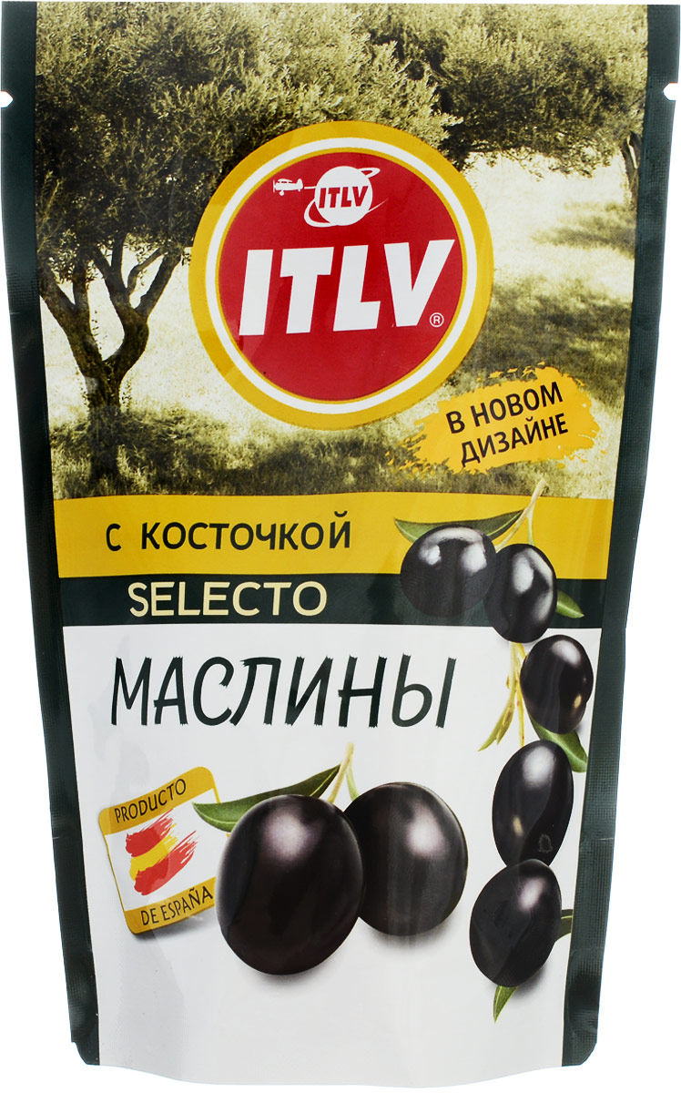 ITLV маслины Selecto с косточкой, 165 г оливковое масло itlv 100% clasico 500мл